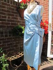 Vestidos de mujer de color principal azul de satén