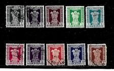 India Stamps-Scott # O127-O136/A09- Set-Canc/H-1957-58-Official-NG