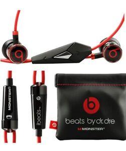 Monster iBeats By Dr Dre Headphones Earphones In-Ear Remote Mic Volume Control