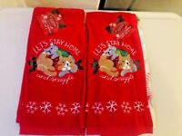 St. Nicholas Square® Cocktails Kitchen Towel Cats Lets Stay Home 2-packs X 2 NEW