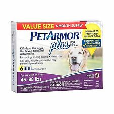 New listing PetArmor 5312 Plus Flea & Tick Prevention for Large Dogs 45-88lbs 3 pack