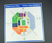 Us Open Arthur Ashe Stadium Court Level Map! Tennis Stadium Memorabilia Sign!