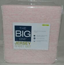 The Big One Jersey Sheet Set- King- Color Light Pink