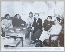 Rare Vintage 11x14 Photograph Mao Tse-tung Zedong, Zhu De, Patrick Hurley 1945
