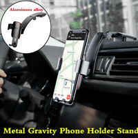 Metal Gravity GPS Navs Phone Holder Mount Bracket For Car Dashboard Air Vent