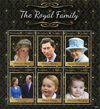 Tanzania 2016 MNH Royal Family 6v M/S I Queen Elizabeth II Prince William Stamps