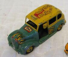 Vintage Dinky Toys Austin Taxi 254 Diecast Car Meccano LTD With Flames England