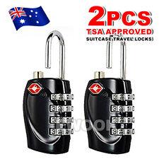 2x TSA Security 4 Combination Travel Suitcase Luggage Bag Code Lock Padlock