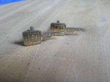 """Rare Vintage GM General Motors """"Mark of Excellence"""" Key Cufflinks Gold Tone USA"""