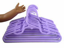 12 Purple Plastic Doll Clothes Hangers For American Girl Doll Accessory