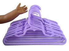 24 Purple Plastic Doll Clothes Hangers For American Girl Doll Accessory 2 Dozen