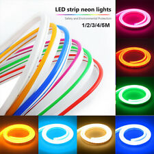 12V Flexible LED Strip Waterproof Sign Neon Lights Silicone Tube 1M 4M or 5M
