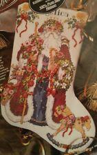 Bucilla Christmas Stocking Kit 83310 Silk Ribbon Embroidery Old World Santa 1995