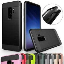 For Samsung Galaxy Note 9 8 S8/S9+ Brushed Hybrid Case Shockproof Bumper Cover