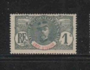 IVORY COAST #21 1906 1c GENERAL LOUIS FAIDHERBE MINT VF NH O.G