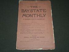 1884 JANUARY THE BAY STATE MONTHLY MASSACHUSETTS MAGAZINE VOL. 1 NO. 1 - II 3045