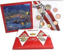 Monaco Euro KMS 2014 Kursmünzen 1 Cent bis 2 Euro im Sonderedition Folder