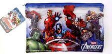 Marvel Comics Avengers Assemble Boy's Clear Plastic Graphic Pencil Case NWT