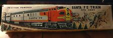 Vintage 1950'S Made in Japan Tin Friction Powered Santa Fe Train W/Original Box!