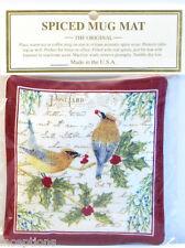 Alice's Cottage Cotton Scented Spiced Mug Mat Coaster Cedar Waxwing Bird - NEW