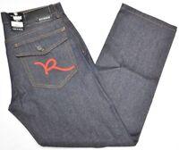 $60 NWT NEW Mens Rocawear Jeans R Flap Classic Denim Raw Indigo Red Urban N759