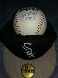 JOSE ABREU (MVP) AUTOGRAPHED OMLB BALL AUTO W/Chicago White Sox mini display hat