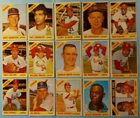 Vintage 1966 Old Topps Baseball Cards 15-card Cardinals Lot *Bob Gibson #320*