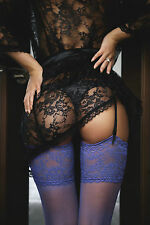 STUNNING SEXY WOMAN STOCKINGS CANVAS PICTURE #896 EROTIC WALL HANGING ART A1