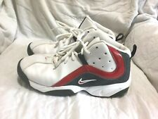 NIKE BASKETBALL SHOES WHITE GREY RED ( SIZE 7Y ) YOUTH