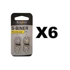 Nite Ize S-Biner MicroLock Stainless Locking Carabiner Keychains (6-Pack of 2)