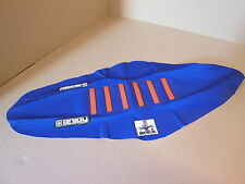 KTM SX/SXF 125-450 2011-2015 New enjoy Blue/org ribbed gripper seat cover EJ3019