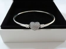 BRAND NEW GENUINE PANDORA ALWAYS IN MY HEART SILVER BANGLE (RRP £75)