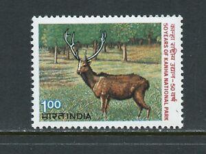 B498  India 1983   fauna deer stag   1v.     MNH