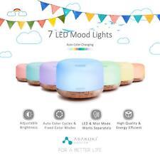 Aroma humidificador ultrasónico de aromaterapia difusor de aceite esencial Luz LED 500 Ml