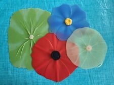 New listing 4 Charles Viancin Lilypad Silicone Lids - Lg/Med/Small Micro, Oven, Freezer Safe