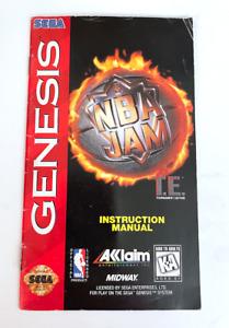 NBA Jam Tournament Edition Sega Genesis Video Game Manual Only