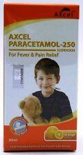 Axcel Paracetamol 250mg 90ml X 2 for Fever & Headaches ,Delicious Orange Flavor
