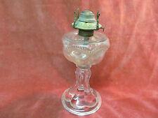 """8 1/2"""" Eapg Pedestal Oil Kerosene Lamp With P&A Mfg Banner Burner"""