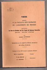 LEVASSEUR VEGETATION LITTORALE DE LA BAIE D'AUDIERNE BRETAGNE BIOLOGIE VEGETALE