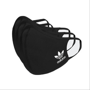 adidas 3 Pack Kid's Youth Face Cover Facemask Children 12 and Under - (XS/Small)