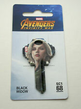 Marvel Avengers Infinity War Black Widow Photo Door Lock Sc1 68 Key Blank Noc