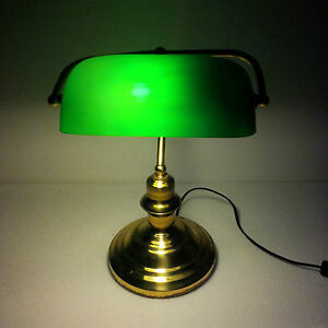 Bankers Lamp Antiques Brass Table Lamp Maritime Ship Vintage Marine (1)