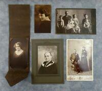 Antique Photo Lot Cabinet Card Black/White Family Wedding Children 1904