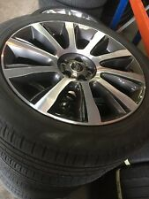 "x4 LAND ROVER L405 STYLE 101 21"" ALLOY WHEELS GREY POLISH WITH PIRELLI TYRES 5mm"