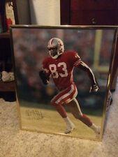 JJ STOKES  SIGNED 16x 20 PHOTO SAN FRANSISCO 49ERS  Framed