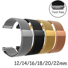 12-22mm Sport Milanese Mesh Loop Band Watch Strap Magnetic Clasp Metal Bracelet