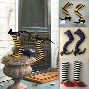 Halloween Fake Witch Leg Heel Party Scary Prank Outdoor Garden Decoration Props