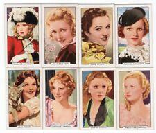8 1935 Film Cards MARLENE DIETRICH JOAN BENNETT JANE WYATT MADELEINE CARROLL +++
