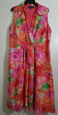 Jones New York Signature Women Collection linen floral dress plus size 16W