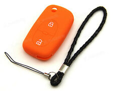 Orange Silicone Case Cover For Audi A2 A6 A8 S4 Remote Flip Key 2 Buttons AD2OR